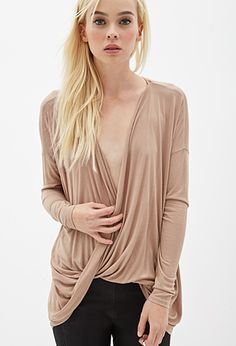$16 Draped Surplice Top | FOREVER21 - 2000059511