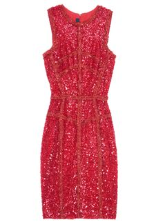 Elie Saab Sequin and lace dress