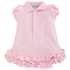 Ralph Lauren Pink Polo Dress & Bloomers Set at alexandalexa.com
