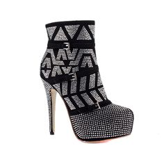 Cool Black Suede Upper Stiletto Heels Closed-toes Women's Boots