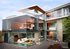 "Incredible San Diego Vacation Rental - Azure La Jolla - Four-Level ""Glass House"" La Jolla, San Diego, Modern Mansion, Modern Homes, Modern Luxury, Belle Photo, Modern Architecture, Residential Architecture, Exterior Design"