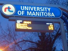 University of Manitoba - Bus Stop in Winnipeg, MB