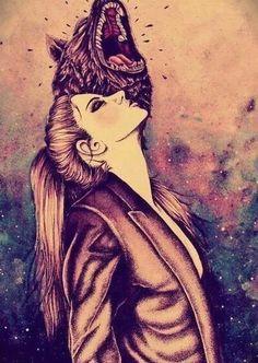 Fashion ... High pony and a leather jacket