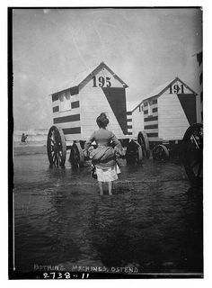 Victorian prudes and their bizarre beachside bathing machines - not strictly steampunk, but they have my imagination going into overdrive with the possibilities! I could see Agatha Heterodyne getting her hands on one of these and making something fantastic!