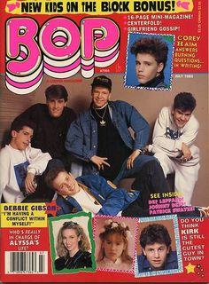 """BOP"" Magazine July 1989 - NKOTB, Johnny Depp, Patrick Swayze etc. I totally remember this one!!!"