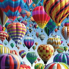 The Albuquerque, New Mexico balloon festival, known as the Albuquerque International Balloon Fiesta®, is the world's largest hot air ballooning event. Balloon Race, Balloon Party, Jolie Photo, World Of Color, Over The Rainbow, Zeppelin, Rainbow Colors, All The Colors, Vibrant Colors