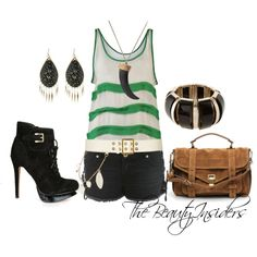 Hot..Love the Tank :), created by thebeautyinsiders on Polyvore