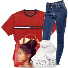 can talk we tlk for a min all night long ----Tevin campbell by lonna19thuggin on Polyvore featuring polyvore, fashion, style, Zee Gee Why, NIKE and MICHAEL Michael Kors