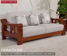 Wooden sofa sets for sale inspiration and pictures Furniture Sofa Set, Furniture Plans, Furniture Design, Furniture Market, Furniture Stores, Bedroom Furniture, Wooden Couch, Wood Sofa, Design Set