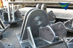 Steel components ready for a new tensile structure. Tensile Structure Systems