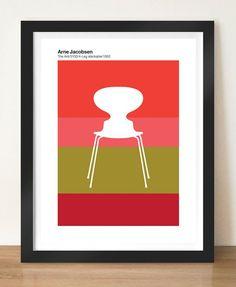 Hoy me gusta   visualphilosophy   Danish & Scandinavian Interiors Retro Poster Prints