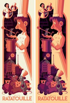 Ratatouille Movie Poster Screen Print by Tom Whalen x Cyclops Print Works x Disney*Pixar Disney And More, Disney Love, Disney Magic, Disney Pixar, Disney Stuff, Walt Disney, Ratatouille Movie, Tom Whalen, Movie Synopsis