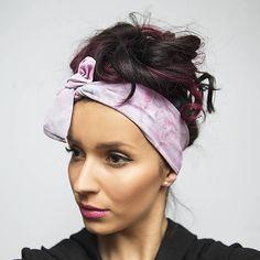 c9ebf51a3e4 Zľava 30%-Dámska šatka do vlasov  čelenka Pink Smoke   jarisse - SAShE.sk -  Handmade Šatky