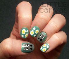 Daisy the Hippo! #nail #nails #nailart