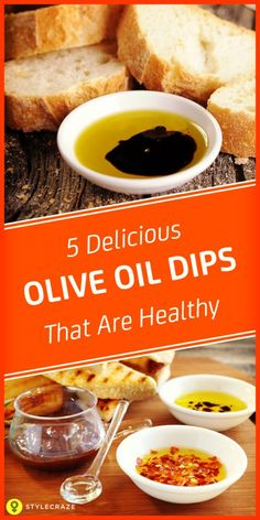 5 delicious Olive oil dips that are healthy