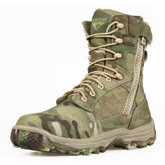 "Elite 8"" Boot w/YKK Side Zipper - MULTICAM"