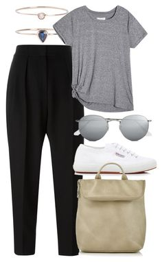 """Untitled #5750"" by rachellouisewilliamson on Polyvore featuring Alexander Wang, 19Fifth, Superga, Whistles and Ray-Ban"