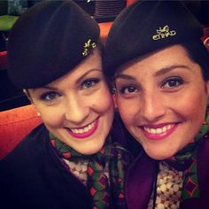 Etihad Airways stewardess crewfie @panam84
