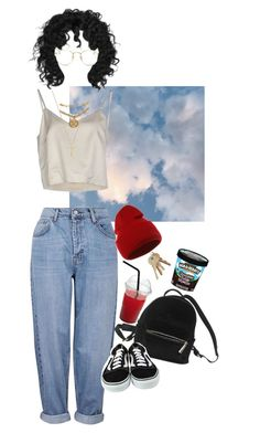 I need someone to explore with by blacklegends on Polyvore featuring Erika Cavallini Semi-Couture, Topshop, Gucci, Versace, Ray-Ban, Urban Outfitters and Vans