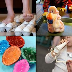 25 Amazing Science Experiments For Kids... loved the diy geode crystals!