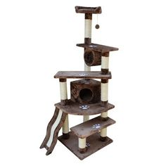 "71"" Cat Tree House Furniture Scratcher http://www.ebay.com/itm/71-Cat-Tree-House-Furniture-Scratcher-Gray-Shanghai-Mocha-/261164520388?pt=Wedding_Jewelry=item3cce9e53c4#"