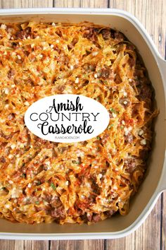 Amish Country Casserole - comfort food at its best! Casserole Recipes, Pasta Recipes, Chicken Recipes, Cooking Recipes, Recipes With Egg Noodles, Egg Noodle Recipes, Turkey Casserole, Chicken Casserole, Pork Recipes