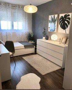 45 Minimalist bedroom decoration ideas that are comfortable … – Bedroom Inspirations Room Ideas Bedroom, Small Room Bedroom, Cozy Bedroom, Bedroom Furniture, Scandi Bedroom, Small Bedroom Ideas For Teens, Master Bedroom, Small Bedroom Designs, Teen Bedroom