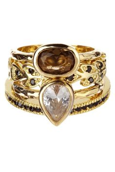Beyond Rings Jolie Ring Set by Just Jewelry: Blowout Event on @HauteLook