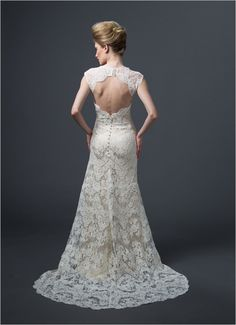 open back dress back by Sareh Nouri