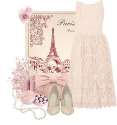"""""""Pink Paris"""" by weeyz ❤ liked on Polyvore"""
