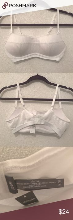 Aerie bralette Aerie bralette. New with tags, never worn. Size medium in white. Padded bralette. American Eagle Outfitters Intimates & Sleepwear Bras