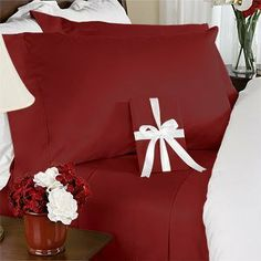 "8PC Queen 800 Thread Count Bed in a Bag - Burgundy Solid Sheet, Duvet & Down Comforter by Egyptian Bedding. $299.99. Beautiful Duvet Set (1 Duvet Cover, 2 Shams). Luxury White Siberian Goose Down Comforter (86X86 Inches). 1 Flat Sheet (92"" x 102""), 1 Fitted Sheet (60"" x 80"") and 2 Standard Pillow Cases (20"" x 30""). True baffle box design to keep the down in place. Brand New and Factory Sealed.. This Luxury 8-Piece Bed in a Bag Siberian Goose Down Comforter Set consists of the..."