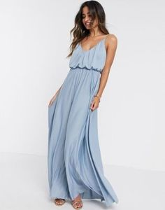 Light blue maxi dress for spring Cami  maxi dress in dusky blue under $60 #affiliatelink #dresses #bridesmaid #weddingguest #springwedding #weddingdress