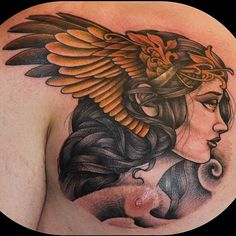 Ok it kinda ruined it when I scrolled down and saw the nipple :( Valkyrie Girl by Ryan Breceda Dream Tattoos, Life Tattoos, Body Art Tattoos, New Tattoos, Sleeve Tattoos, Weird Tattoos, Unique Tattoos, Beautiful Tattoos, Tattoos For Guys