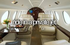 Bucket List: Ride in a private jet