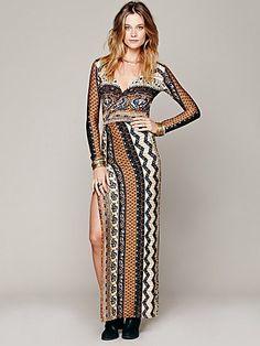 Free People Siren Print Maxi Dress