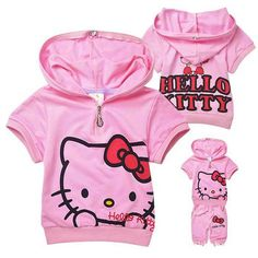 Free Shipping Korea Style Wholesales Children Clothing Girls Summer Cartoon Suits KT Cat Hoodies Tops+ Pants Casual 2pcs Sets from Reliable Girls Cartoon Suits suppliers on Missing You