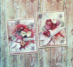 My mixed media Christmas Cards... Môjaktuálny príspevok na ScrapArt.cz   prináša inšpiráciu v podobemixed media vianočných pozdravov v červeno-bielej farebnej kombinácii...