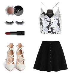 """Untitled #100"" by joana-morais-i ❤ liked on Polyvore featuring Topshop, Gianvito Rossi, NARS Cosmetics and Chanel"