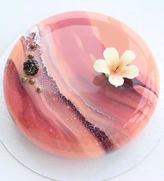 Blackberry and Blackcurrant mirror cake Beautiful Desserts, Beautiful Cakes, Amazing Cakes, Beautiful Cake Designs, Fancy Desserts, Fancy Cakes, Pink Cakes, Patisserie Fine, Glaze For Cake