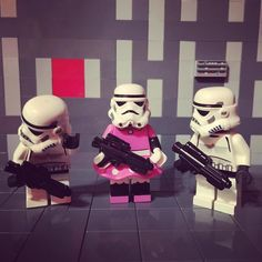 - Star Wars Stormtroopers - Ideas of Star Wars Stormtroopers - Just dont ask ok? Lego Star Wars, Theme Star Wars, Star Wars Party, Legos, Aniversario Star Wars, Lego Memes, Star Troopers, Star Wars Figurines, Lego Stormtrooper