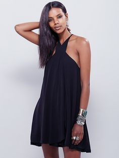 Star Crossed Dress   Made from our sheer and gauzy Endless Summer fabric, this strappy wrap mini dress features an adjustable halter silhouette with daring keyhole neckline. Throw on top of a bikini or layer over one of our seamless styles for an effortless look.