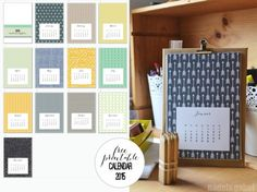 Ring In The New Year: 20 Free Printable Calendars for 2015