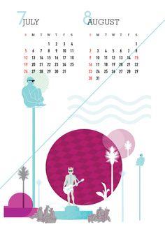 2014 Communication Design 2 / Calendar Design / 2015 달력 디자인 #Nice #Calendar #illustration Designed by #Suhyeonkim