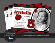 Image result for free printable ladybug birthday invitation cards