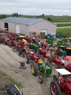 i had a dream.... red and green tractors could get along... this dream has finally come true lol I AM GOOD