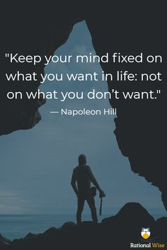 """Keep your mind fixed on what you want in life: not on what you don't want. Best Motivational Videos, Motivational Quotes, Inspirational Quotes, Career Quotes, Boss Quotes, Success Quotes, Earl Nightingale, Robert Kiyosaki, Wisdom Quotes"
