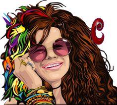 Alfabeto de chica hippy sonriendo. | Oh my Alfabetos!