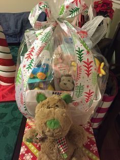 Easter basket for niece baskets and crafts ive made pinterest christmas basket for goddaughter negle