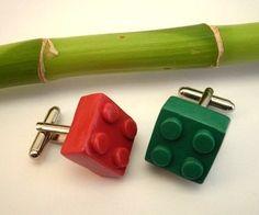 Lego Clay Cufflinks Handmade  available in many by BijottiCiciotti, $10.00